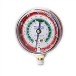 "Yellow Jacket 49053 2 1/2"" Gauge (°F And °C), Red Pressure, Bar & Mpa, R-410A"