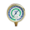 "Yellow Jacket 49198 2-1/2"" Brass Compound, 30""-0-120* Psi, R-12/22/502, Certified Gauge"