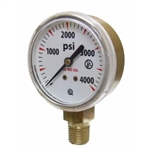 "Uniweld G7SD Tank Gauge 2"" Bottom Mount 0-4000 PSI"