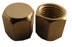 "Supco SF2235 1/4"" Heavy Duty Hex Brass Cap w/ Neoprene Seal (25 Pack)