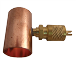 Universal line valves, two styles - a flared or straight end copper piece