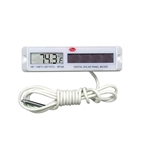 Cooper Rectangular White Solar Powered Thermometer SP160-1