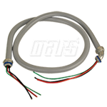 "MA-LINE, MA-P6012W - 1/2"" x 6' #10 THHN Wire 1 Straight and 1 90deg. Con. N-Met."