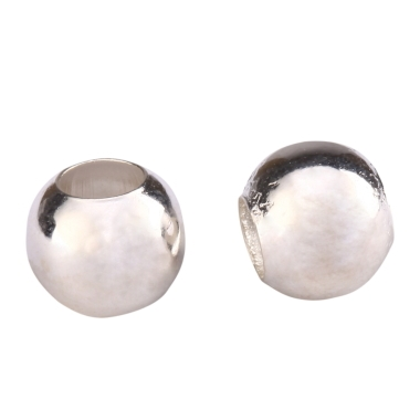 50 x Silver Plated Oval Spacers Beads 6mm x 4mm