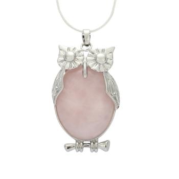 Natural rose quartz healing point reiki chakra gemstone pendant necklace rose quartz healing point reiki chakra gemstone necklace mozeypictures Images