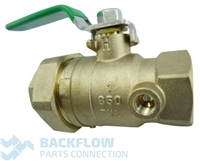 "1""  #1 Inlet Ball valve Female x Union ""Lead Free"" Tapped"