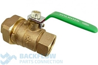 "1""  #2 Outlet Ball valve Female x Union ""Lead Free"""
