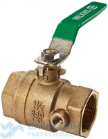 "1 1/2 #1 Ball Valve, Female x Female ""Lead Free"" Tapped"