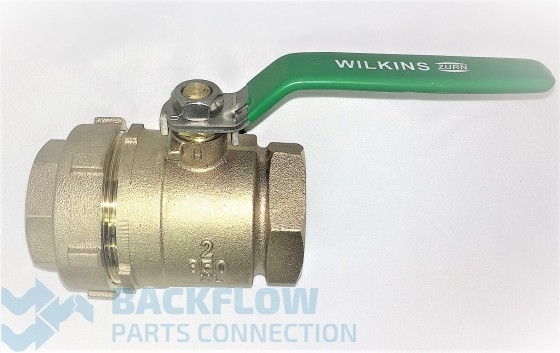 "Wilkins Backflow 11/2"" #2 Outlet Lead Free ball valve Union x Female"