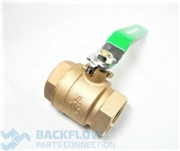 "1 1/2 #2 Outlet ball valve ""Lead Free"" Female x Female"
