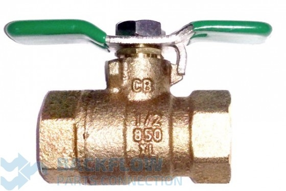 "1/2 #2 outlet Ball Valve ""Lead Free"" Female x Female"