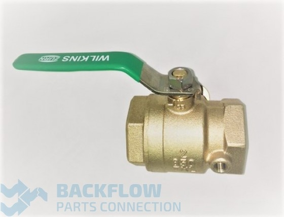 "2"" #1 Inlet ""Lead Free"" Tapped Ball Valve Female x Female"