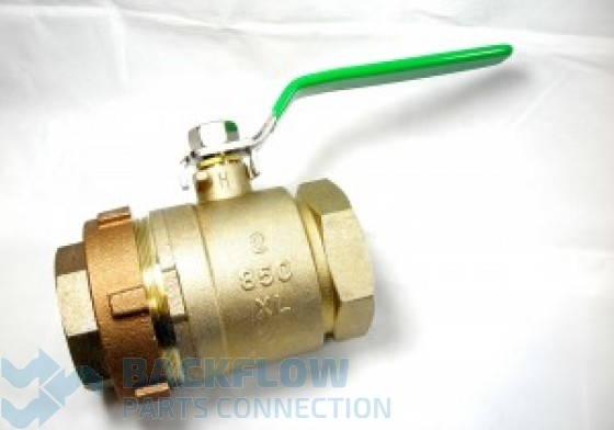 "2"" #2 Outlet ""Lead Free"" Ball Valve Union x Female"