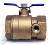 "Watts Backflow Prevention Inlet Ball Valve 1 1/4"" 007/009 Tapped"