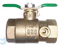 "3/4"" #1 inlet ball valve ""Lead Free"" Female x Female Tapped"