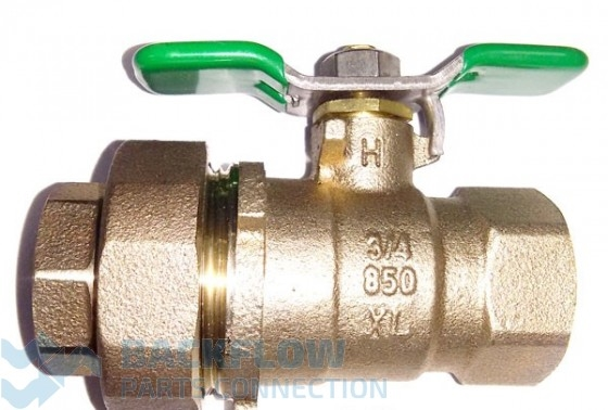 "3/4"" #2 Outlet ""Lead Free"" Ball Valve Union x Female"