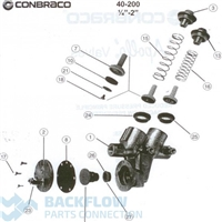 "Stainless Steel RPZ Major Kit - Conbraco Apollo Backflow 3/4-1"" 40-200"