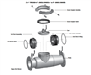 "Ball Valve for Cover Lid for AMES & COLT 6"" Device - 2000SE / 3000SE"