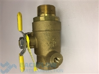 "#1 Tapped ball valve- CONBRACO_APOLLO 3/4"" female x male"