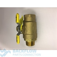 "# 2 Outlet Ball Valve - CONBRACO_APOLLO 3/4"" female x male"