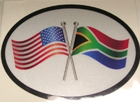 SA/USA Friendship Decal