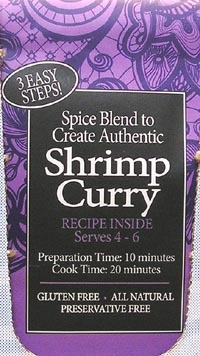 Spice Kitchen Shrimp Curry Spice