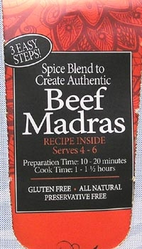 Spice Kitchen Beef madras Curry Spice