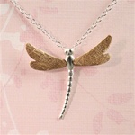 Two Tone Dragonflies Necklace