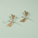Two Tone Dragonflies Earrings