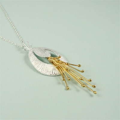 Bursts of Yellow Gold Necklace