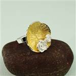 Two Tone Gold Flower Ring