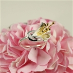 Two Tone Gold Stamen Ring