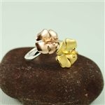 Two Tone Flower Tastefully Ring