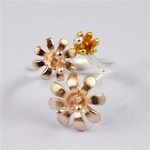 Pink Gold Garden Flower Ring