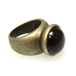 Brass Glass Stone Ring