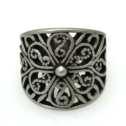 Victorian Floral Band Ring