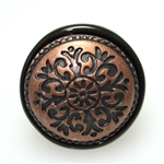 Black Bronze Floral Pattern Ring