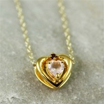 Gold Heart Rose Quartz Necklace
