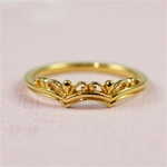 Gold Floral Crown Ring