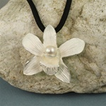 Handmade Original Orchid Silver Necklace