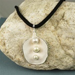 Handmade Triple Pearls Silver Necklace