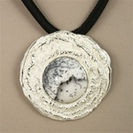 Handmade Dendentric Opal Silver Necklace