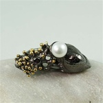 Handcrafted Pearl in Seashell Ring