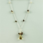Citrine Drop Silver Necklace