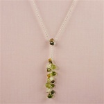 Dangling Multi-Colored Peridot Necklace