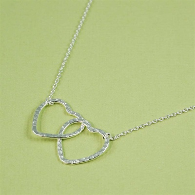 Silver Love Hearts Necklace