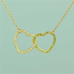 Gold Love Hearts Necklace