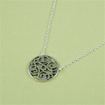 Silver Floral Dish Necklace