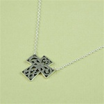 Silver Floral Cross Necklace