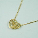 Gold Wire Wrapped Heart Necklace
